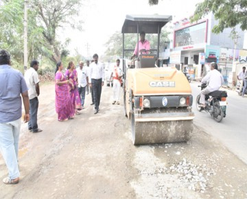 Commissioner inspections on East zone road patch works